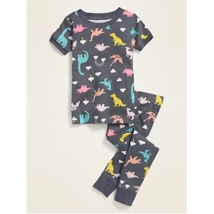 Unisex Dino-Print Pajama Set for Toddler