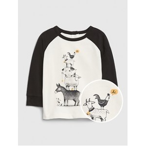 Baby Organic Cotton Long Sleeve Graphic T-Shirt