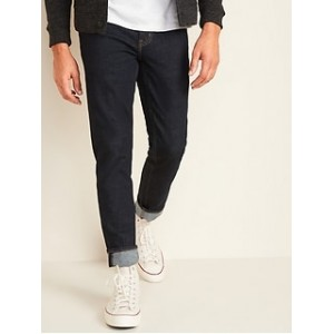 Relaxed Slim Taper Built-In Flex Dark-Wash Jeans