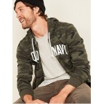 Logo-Graphic Camo Zip Hoodie for Men