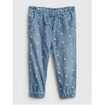 Toddler Denim Heart Print Pull-On Joggers with Washwell™