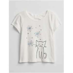 Toddler Bow-Tie Graphic T-Shirt