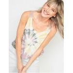 Lightweight Textured-Knit Lounge Tank Top for Women