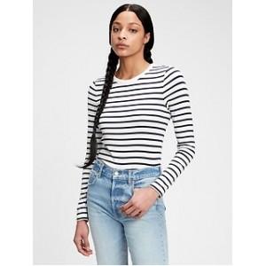 Modern Stripe Crewneck T-Shirt
