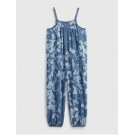 Toddler Tie-Dye Denim Jumpsuit with Washwell ™