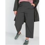 High-Waisted StretchTech Wide-Leg Crop Pants for Women