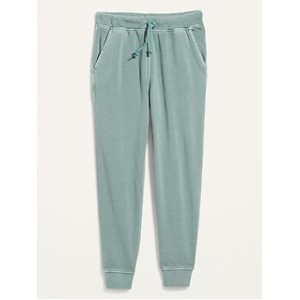 Gender-Neutral Tapered Garment-Dyed Vintage Street Jogger Sweatpants for Adults