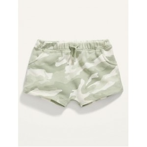Unisex Camo Tie-Front Shorts for Baby
