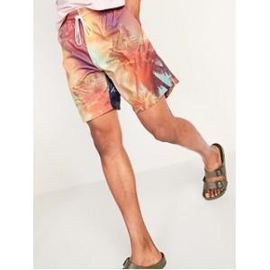 Printed Swim Trunks for Men -- 8-inch inseam