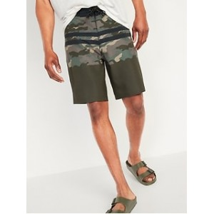 Printed Built-In Flex Board Shorts for Men -- 10-inch inseam