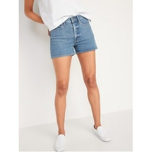 High-Waisted O.G. Straight Jean Shorts for Women -- 3-inch inseam