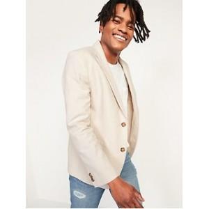 Built-In Flex Linen-Blend Blazer for Men