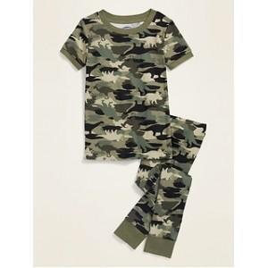 Unisex Camo-Dino Pajama Set for Toddler & Baby