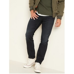 Slim Rigid Non-Stretch Dark-Wash Jeans for Men