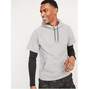Dynamic Fleece Short-Sleeve Pullover Hoodie for Men
