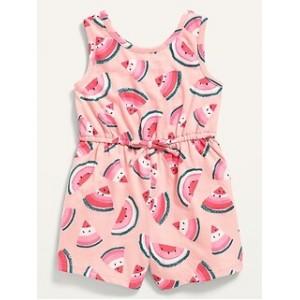 Sleeveless Printed Jersey Romper for Toddler Girls