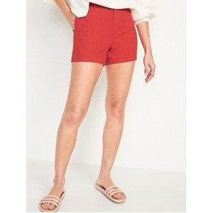 High-Waisted Linen-Blend Everyday Shorts for Women -- 5-inch inseam