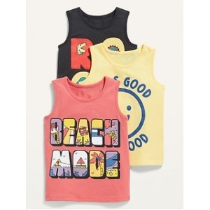 Graphic Tank Top 3-Pack for Toddler Boys