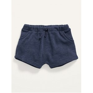 Unisex French Terry Tie-Front Shorts for Baby