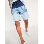 Color-Blocked Built-In Flex Board Shorts for Men -- 10-inch inseam