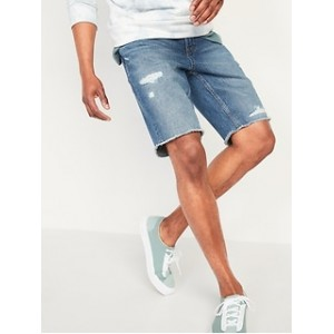 Slim Cut-Off Jean Shorts for Men -- 9.5-inch inseam