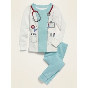 Unisex Doctor Costume Pajama Set for Toddler & Baby