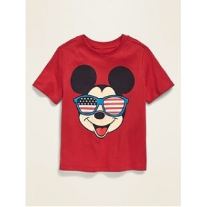 Disneyⓒ Mickey Mouse Americana Graphic Tee for Toddler Boys