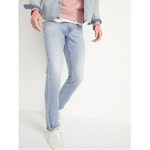 Slim Rigid Non-Stretch Light-Wash Jeans for Men