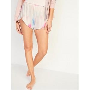 High-Waisted Sunday Sleep Ultra-Soft Dolphin-Hem Pajama Shorts for Women -- 3-inch inseam