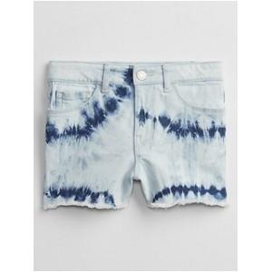 Kids High-Rise Tie-Dye Denim Shorts