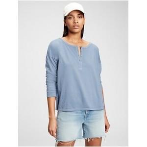 100% Organic Cotton Vintage Henley Shirt