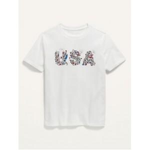 Matching Graphic USA Tee for Boys