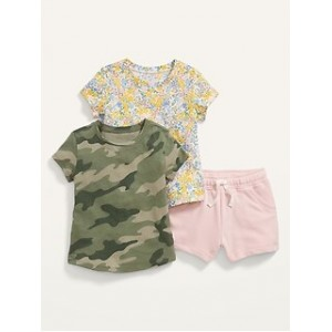 Unisex 3-Piece T-Shirt and Shorts Set for Toddler