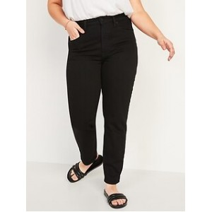 High-Waisted O.G. Straight Black Jeans for Women