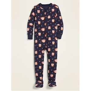 Unisex Printed One-Piece Footie Pajamas for Toddler & Baby