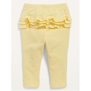 Solid Ruffle-Trim Leggings for Baby