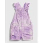 Toddler Tie-Dye Denim Shortalls with Washwell ™