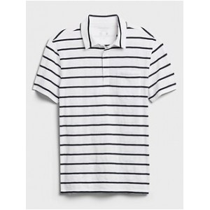 Quick Dry Striped Polo