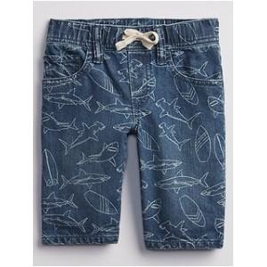 Toddler Shark Pull-On Denim Shorts