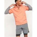 Dynamic Fleece Short-Sleeve Pullover Hoodie for Men