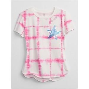 Kids Tie-Dye Flippy Sequin T-Shirt