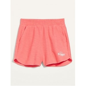 Extra High-Waisted Textured Dolphin-Hem Lounge Shorts for Women -- 3.5-inch inseam
