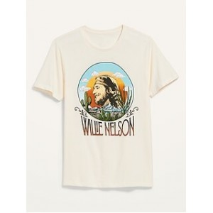 Willie Nelson Gender-Neutral Graphic Tee for Adults