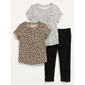 Unisex 3-Piece T-Shirt and Leggings Set for Toddler
