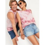Vintage Tie-Dye Gender-Neutral Sleeveless Tee for Adults