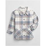 Toddler Plaid Sherpa-Lined Shirt Jacket